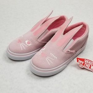 fac6700180 Vans Shoes - Vans Slip-on Bunny Shoes Chalk Pink and White